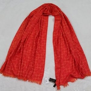 Coach NWT Scarf Orange